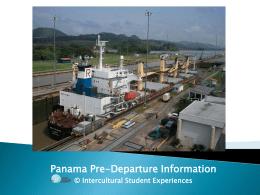 Panama Pre-Departure Information