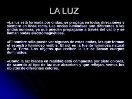 PROPIEDADES DE LA LUZ - Idcomunicaccion's Blog | BLog …