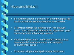 Hipersensibilidad I - [DePa] Departamento de Programas