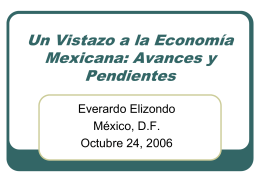An Overview of the Mexican Economy