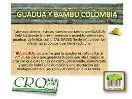 PORTAFOLIO GUADUA - GUADUA BAMBU COLOMBIA