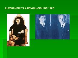 ALESSANDRI Y LA REVOLUCION DE 1925