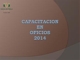 CAPACITACION EN OFICIOS 2014