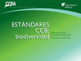 CCBS v2 Biodiversity - Rainforest Alliance