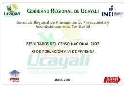 Diapositiva 1 - Gobierno Regional de Ucayali | Inicio