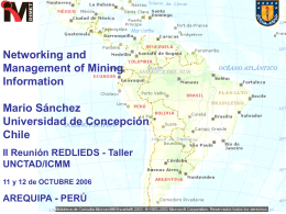 Networking and Management of the Mining Information in
