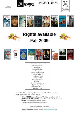 aaa Rights available Spring 2009 aaa