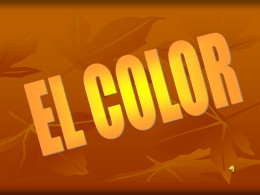 EL COLOR - INTEF