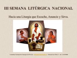 JORNADA NACIONAL DE LITURGIA 2012