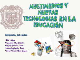MULTIMEDIOS Y NUEVAS TECNOLOGIAS