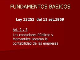 LEY 13253 - Mejia Reinoso & Asociados