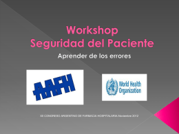 Workshop Seguridad del Paciente