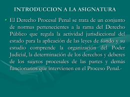 PROCESO PENAL: