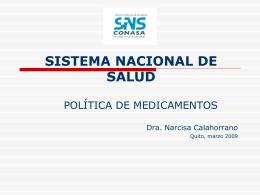 SISTEMA NACIONAL DE SALUD - ForoSalud