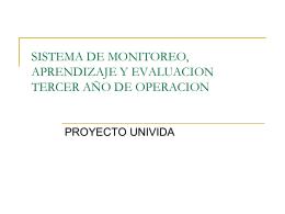 SISTEMA DE MONITOREO Y EVALUACION