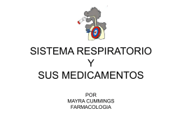 MEDICAMENTOS DEL SISTEMA RESPIRATORIO