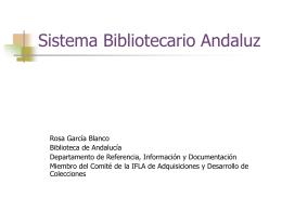 Sistema bibliotecario andaluz