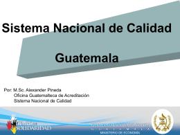 Sistema Nacional de Calidad GUA PP