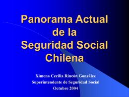 El Sistema de Seguridad Social Chileno