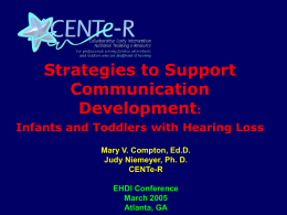 Strategies to Support Communication Development: …