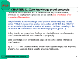 CHAPTER 12 - Zero-knowledge proof protocols