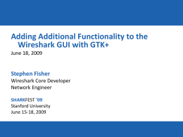 DT-9 (Fisher) Extend Wireshark With GTK