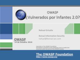 Seminario Seguridad en Aplicaciones Web