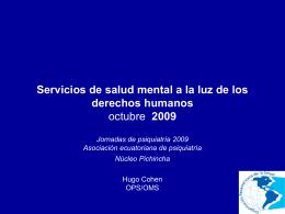 Servicios de Salud Mental y derechos humanos