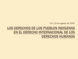 Los derechos de los pueblos indigenas en el derecho