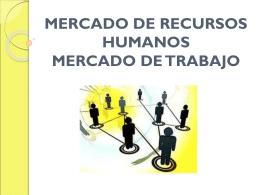 MERCADO DE RECURSOS HUMANOS MERCADO DE …