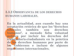 3.3.2 Observancia de los derechos humanos laborales.