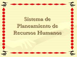 Sistema de Planeamiento de Recursos Humanos