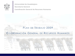 COORDINACION GENERAL DE RECURSOS HUMANOS