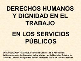 DERECHOS HUMANOS Y DIGNIDAD EN EL TRABAJO