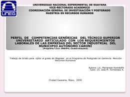 UNIVERSIDAD NACIONAL EXPERIMENTAL DE GUAYANA …