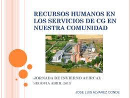 RECURSOS HUMANOS EN LOS SERVICIOS DE CG EN …