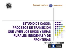 PROYECTO OEA VAN LEER III ETAPA ESTUDIOS DE CASOS
