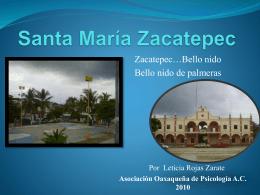 Santa Maria Zacatepec
