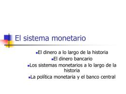 El sistema monetario - I.E.S. Santa Eugenia