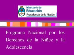 Programa Nacional por los Derechos de la