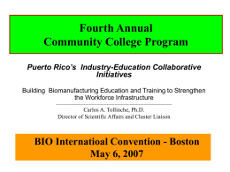 Educational Infrastructure Committee - Bio-Link