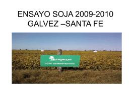 ENSAYO SOJA 2009-2010 GALVEZ –SANTA FE