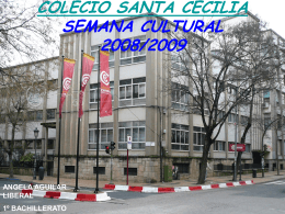 COLECIO SANTA CECILIA SEMANA CULTURAL 2008/2009