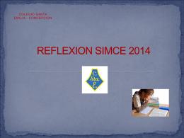 REFLEXION SIMCE 2014 - COLEGIO SANTA EMILIA