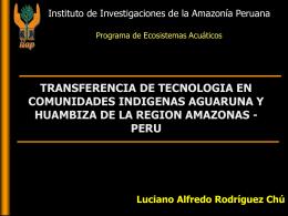 TRANSFERENCIA DE TECNOLOGIA EN COMUNIDADES …