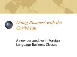 Doing Business with the Caribbean - UCF