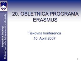 20. OBLETNICA PROGRAMA ERASMUS