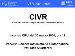 Diapositiva 1 - Crui: Conferenza dei Rettori delle