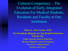Piloting a Cultural Competency Curriculum for Medical
