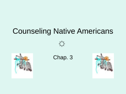 Counseling Native Americans